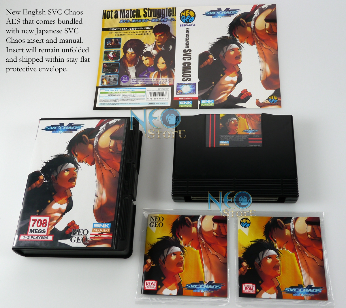 SVC Chaos English AES + Japanese insert & manual