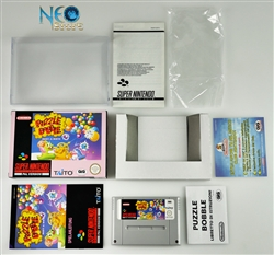 PUZZLE BOBBLE™: Bust-a-Move Super Nintendo (SNES), Made in Japan, version PAL.