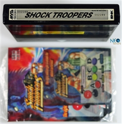 Shock Troopers English MVS cartridge (holographic)