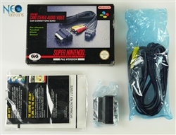 Original Cable A/V Connectors Super Nintendo (SNES), Made in Japan, version PAL.
