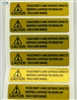 Gold warning label / sticker for Neo-Geo cartridge English version by !Arcade!