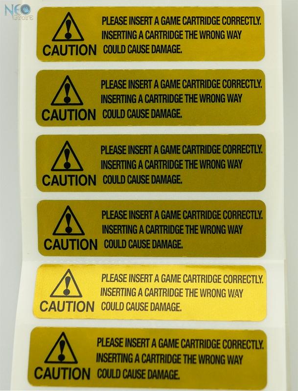 neostore com gold warning label for neo geo cartridge english