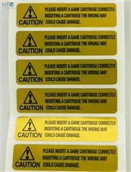 Gold warning label for Neo-Geo cartridge English version by !Arcade!